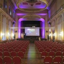 Main presentation hall prepared.